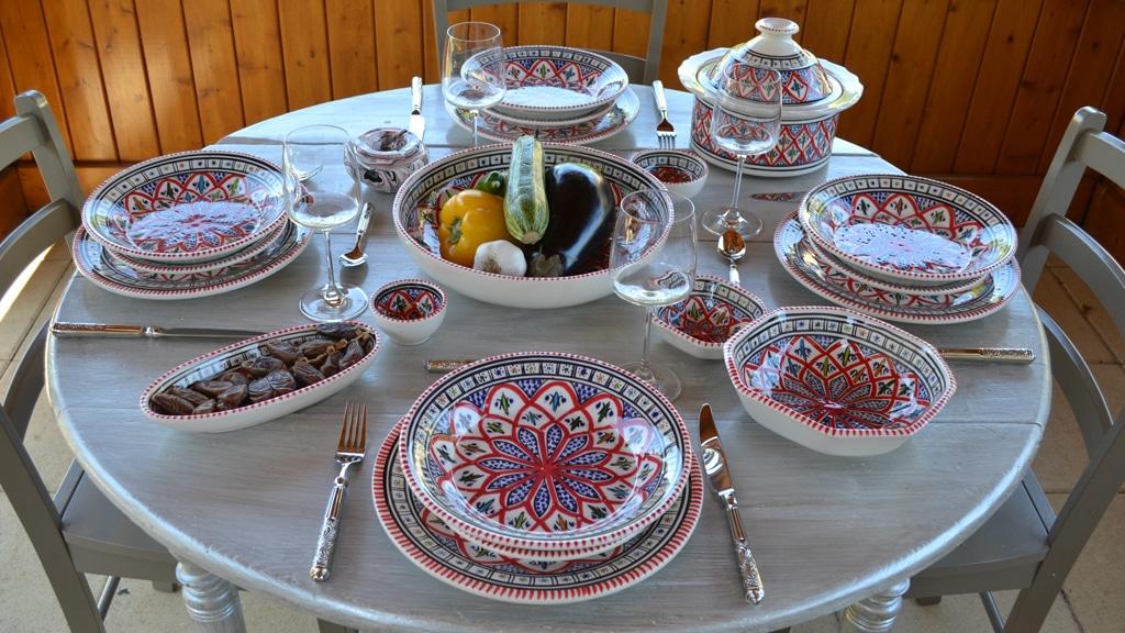 yodeco collection jileni rouge d cor oriental classique. Black Bedroom Furniture Sets. Home Design Ideas
