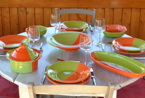 Collection Kerouan vert/orange