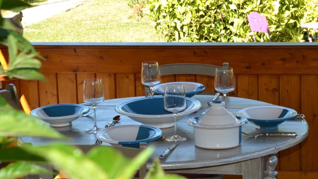 Service à couscous Kerouan bleu/blanc
