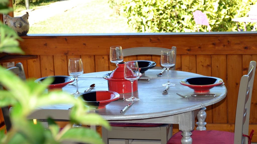 Service à couscous Kerouan rouge/noir