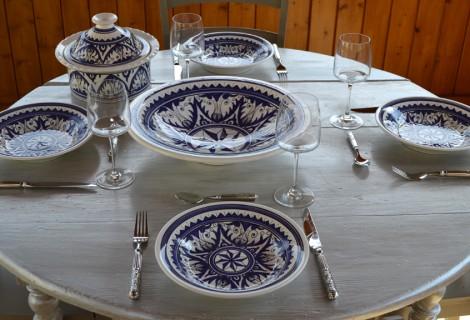 Service à couscous Nejma bleu