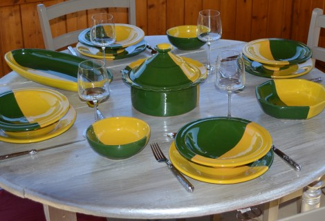 Collection Kerouan jaune/vert
